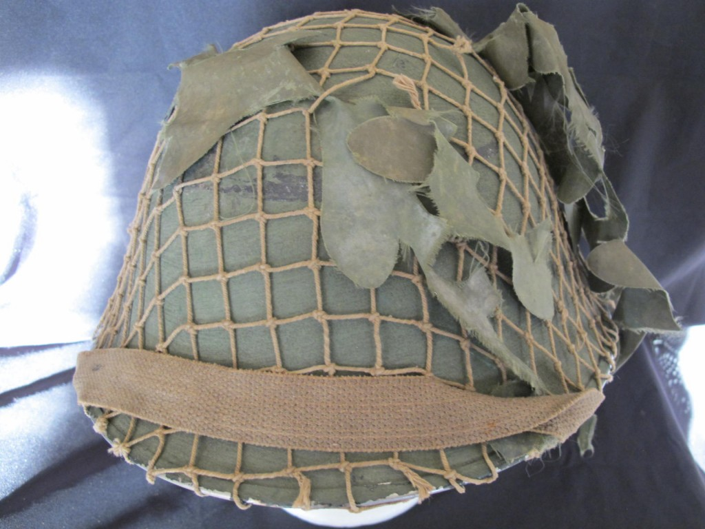 British Army Turtle Combat Helmet With Netting Cover