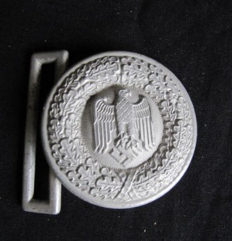 Third Reich German Army Officers Parade Belt Buckle – Item 85882